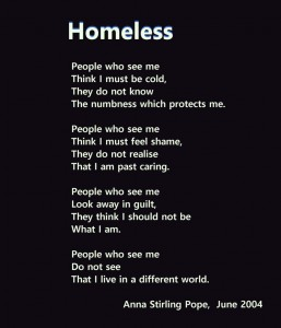 homeless poetry