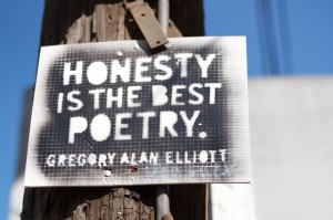 honesty is the best poetry